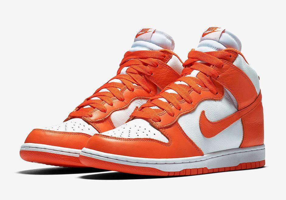 Nike Dunk High Retro Qs Syracuse Sneakernews Com Nike Dunks Nike Dunk High Nike