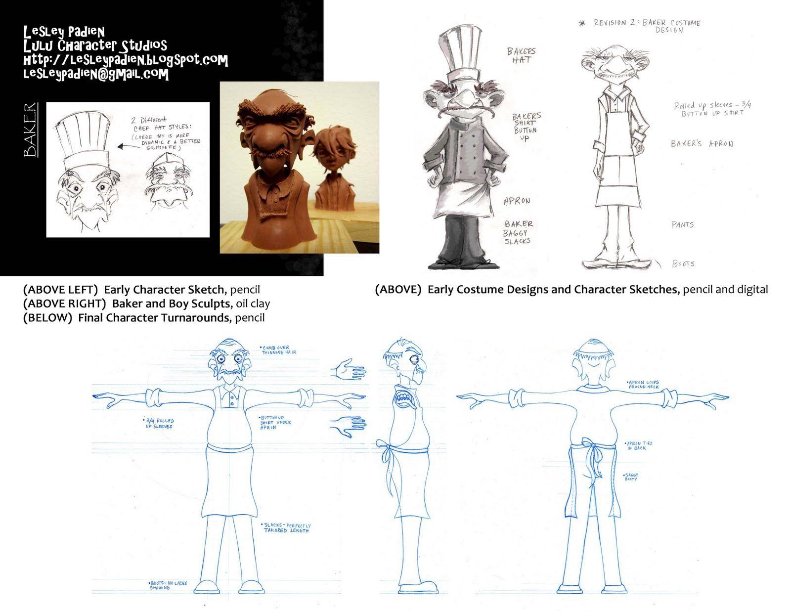 Lulu Character Studios: Visual Development: Baker & Homeless Boy - Character Designer & Sculptor