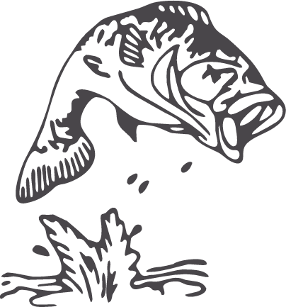 Largemouth Bass Fish Outline Fish Silhouette