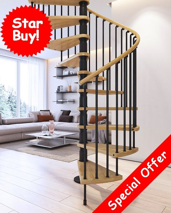 Best Gamia Deluxe Spiral Staircase Special Offer Spiral 400 x 300