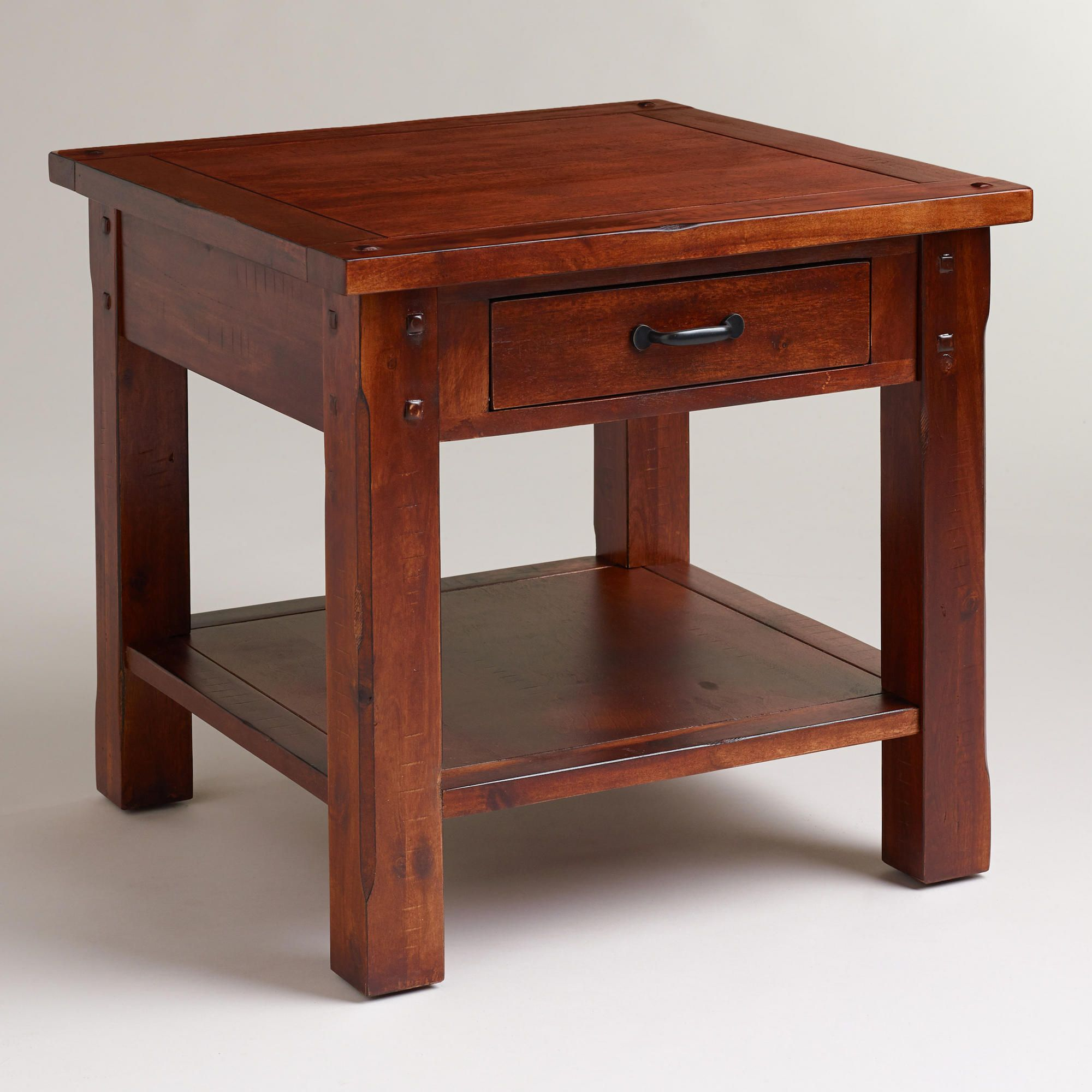 Chunky Rich Mahogany Finished Tables And Trim Living Room Pinterest End Tables End