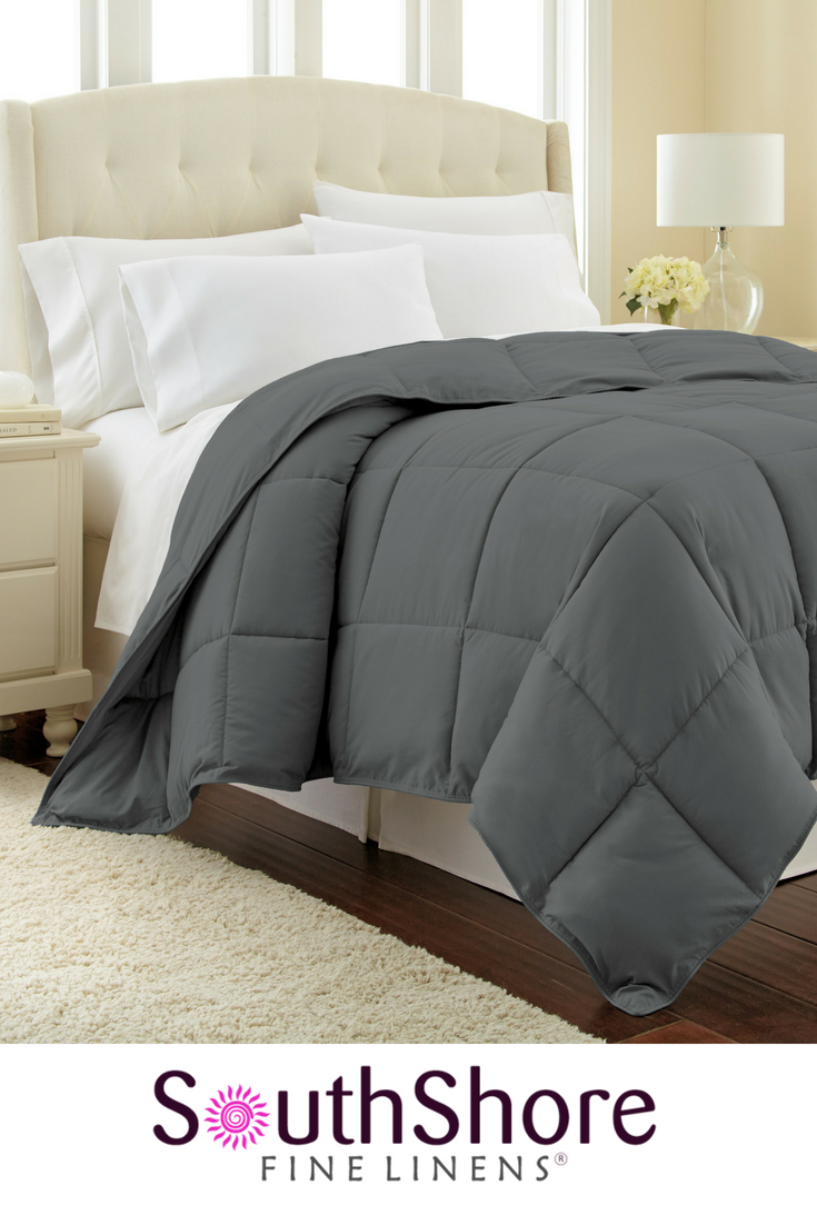 All Season Classic Plush Down Alternative Comforters By Vilano Springs Weighted Comforter Black Bedding California King