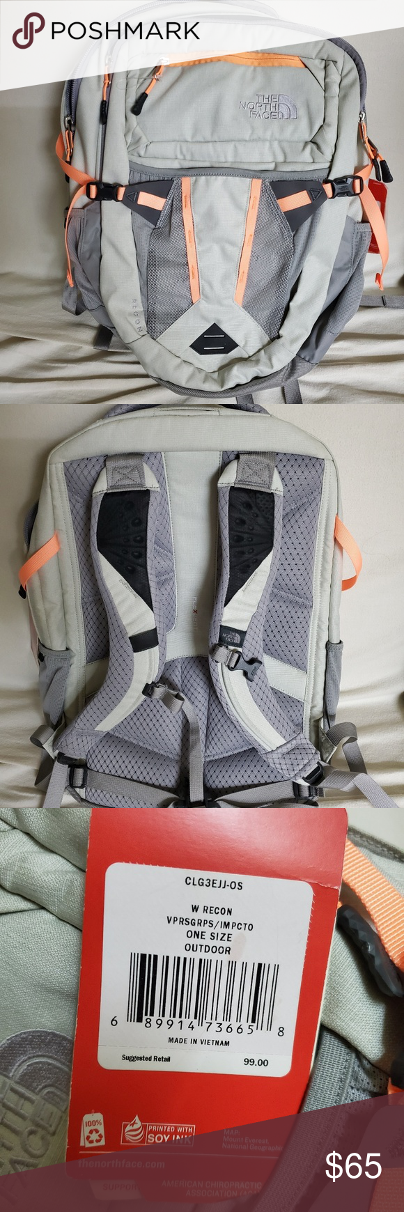 THE NORTH FACE w recon backpack -W recon backpack from THE NORTH FAVE -Sizes:One Size -Avg Weight:2 Lbs 6.1 Oz  -Dimensions:19.25 X 13 X 7  -Volume:1831 In³ (30 Liters)Laptop -Sleeve:11.5 X 17.75 -New with tag The North Face Bags Backpacks #wfaves