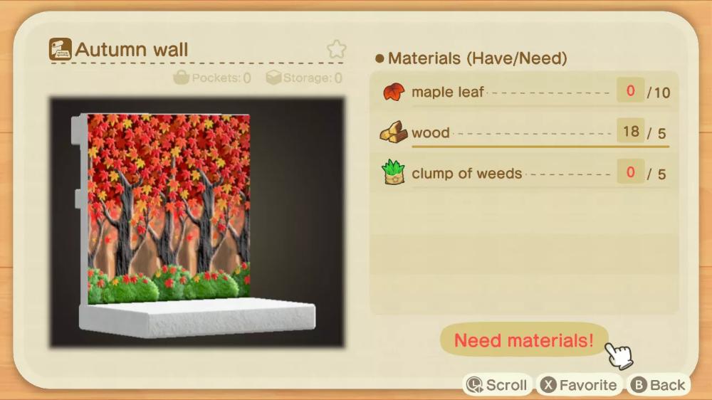 Animal Crossing New Horizons Fall Maple Leaf Diy Recipe List Polygon Crafting Recipes Animal Crossing Maple Leaf