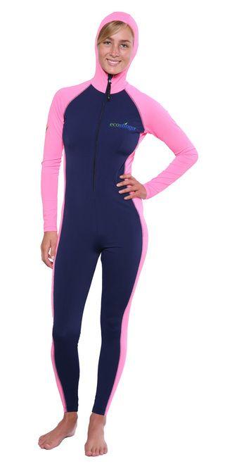 eadb8ea03e Ladies Full Body UV Swimsuit with Hood Sun Protective UPF50+ Navy ...