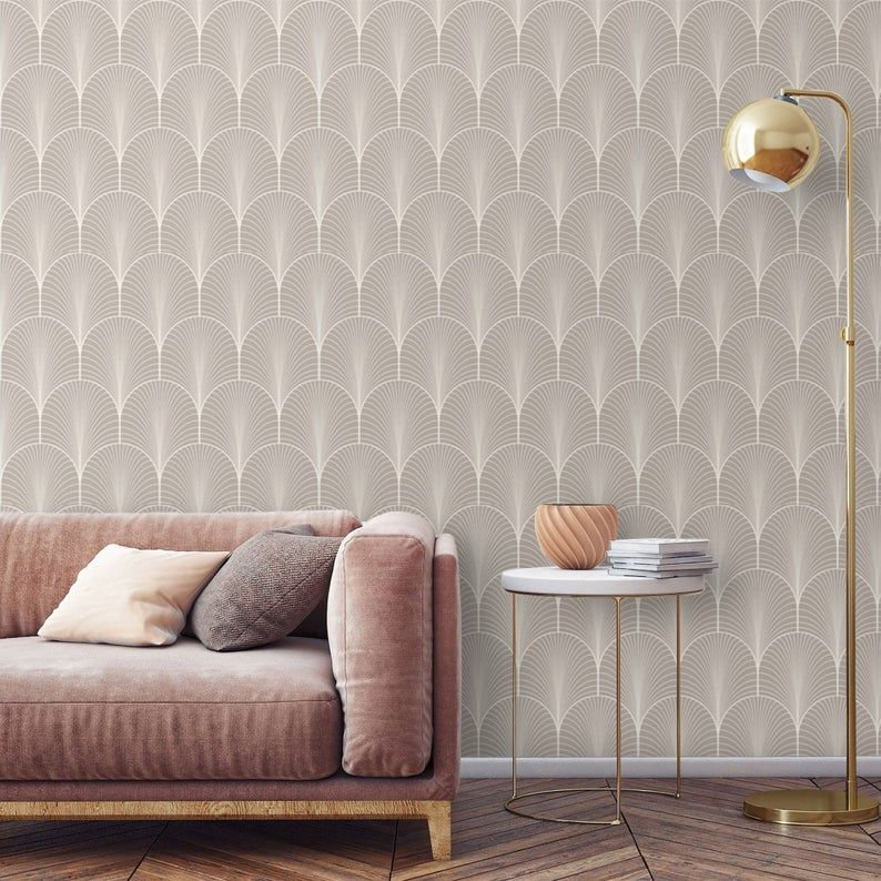 Art Deco Wallpaper Peel And Stick Removable Wallpaper Mural Etsy Art Deco Living Room Art Deco Wallpaper Girls Room Wallpaper