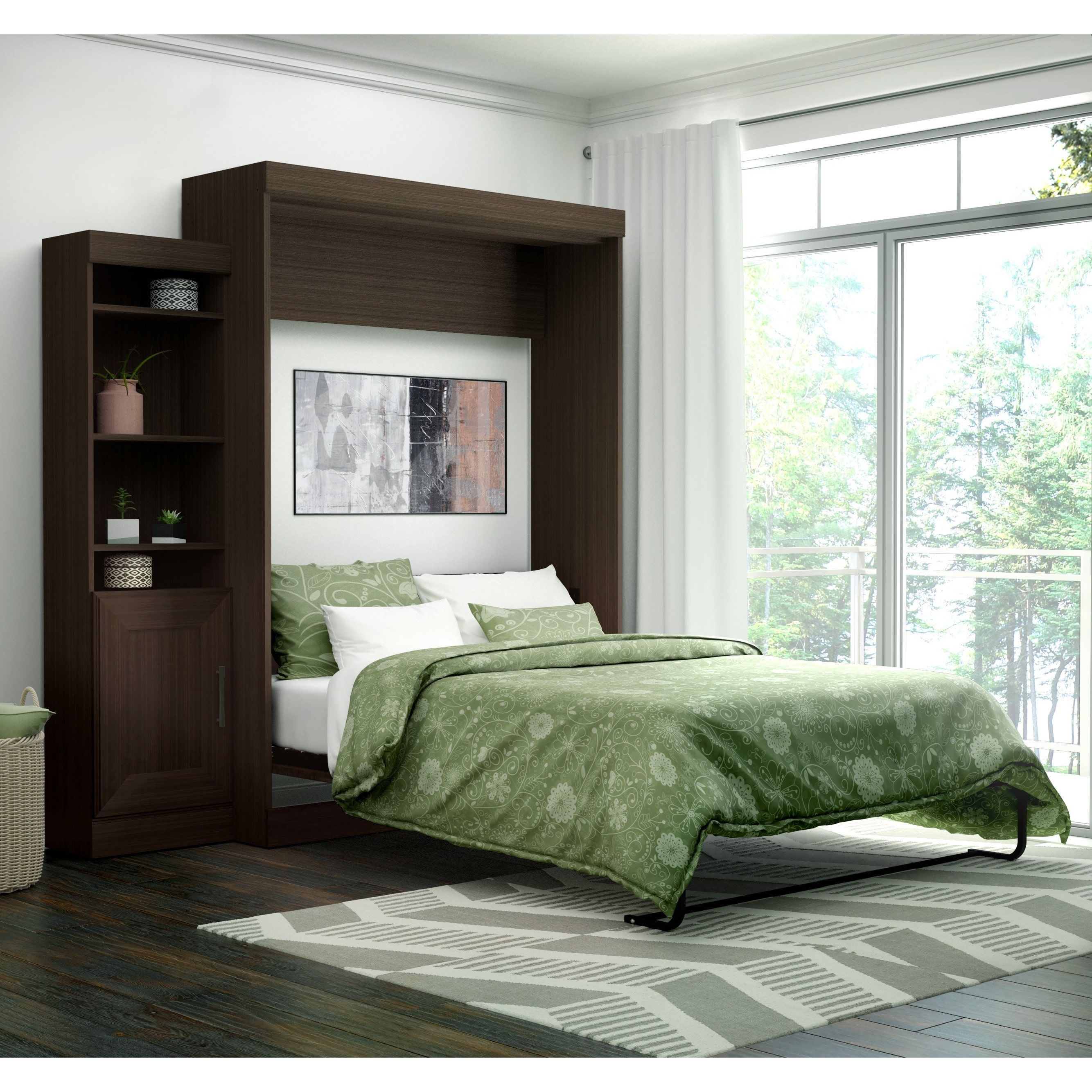 Edge by bestar queen wall bed with 21 inch storage unit and door edge by bestar queen wall bed with 21 inch storage unit and door amipublicfo Image collections