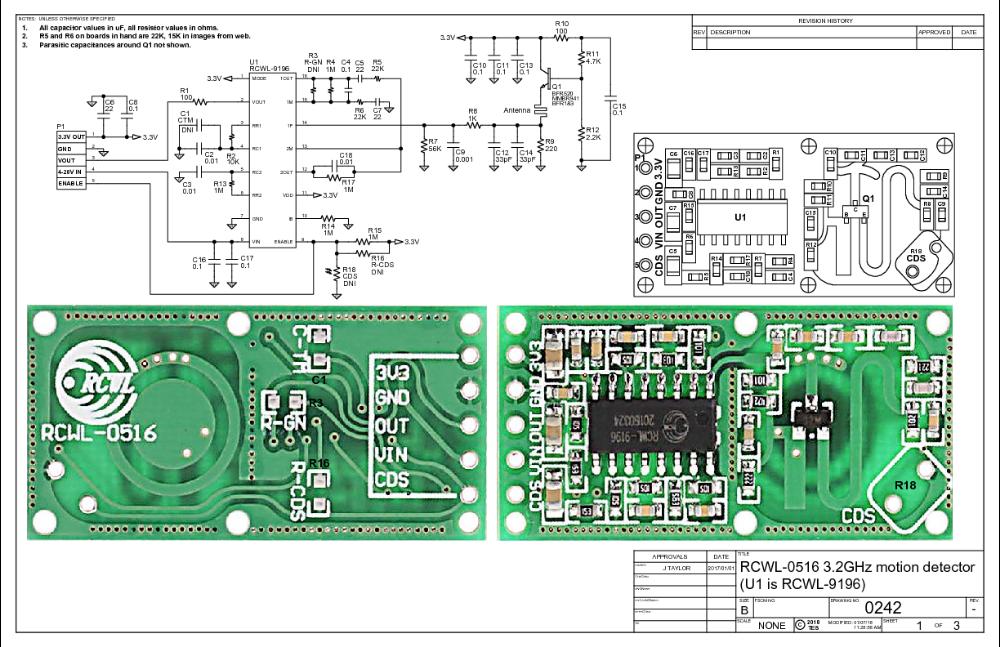 Github Jdesbonnet Rcwl 0516 Information About Rcwl 0516 Microwave Proximity Switch Module Icstation Com Sk Proximity Switch Signal Processing Doppler Radar