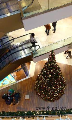 Weihnachtsbaum von oben