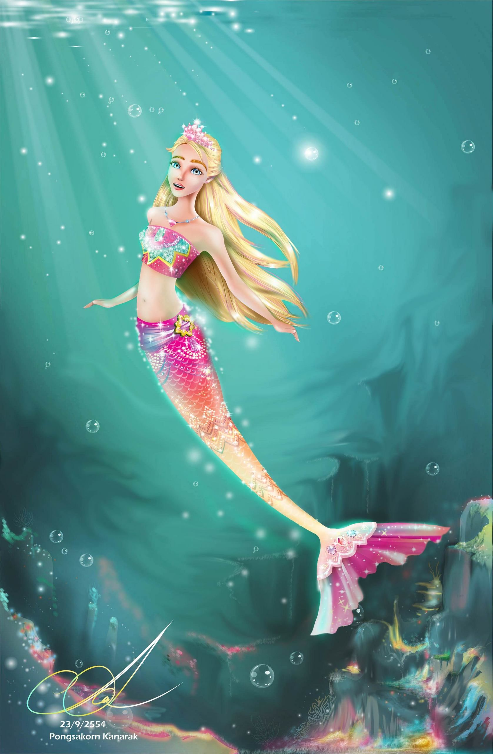 Mermaid art barbie movies merliah as mermaid tale my fan art