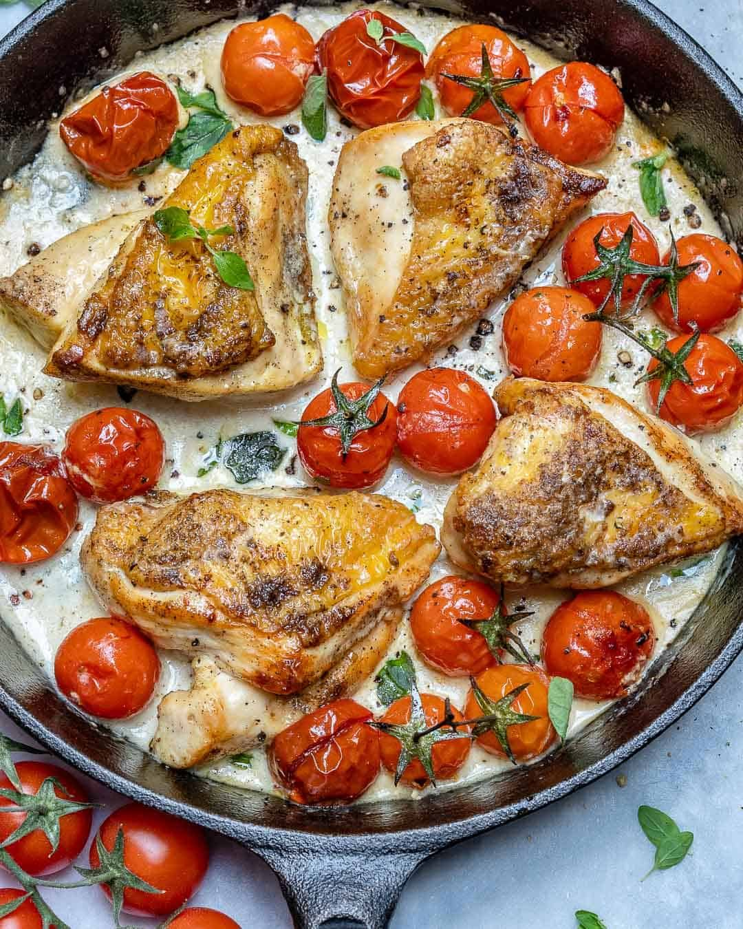 Easy Creamy Garlic Chicken Skillet