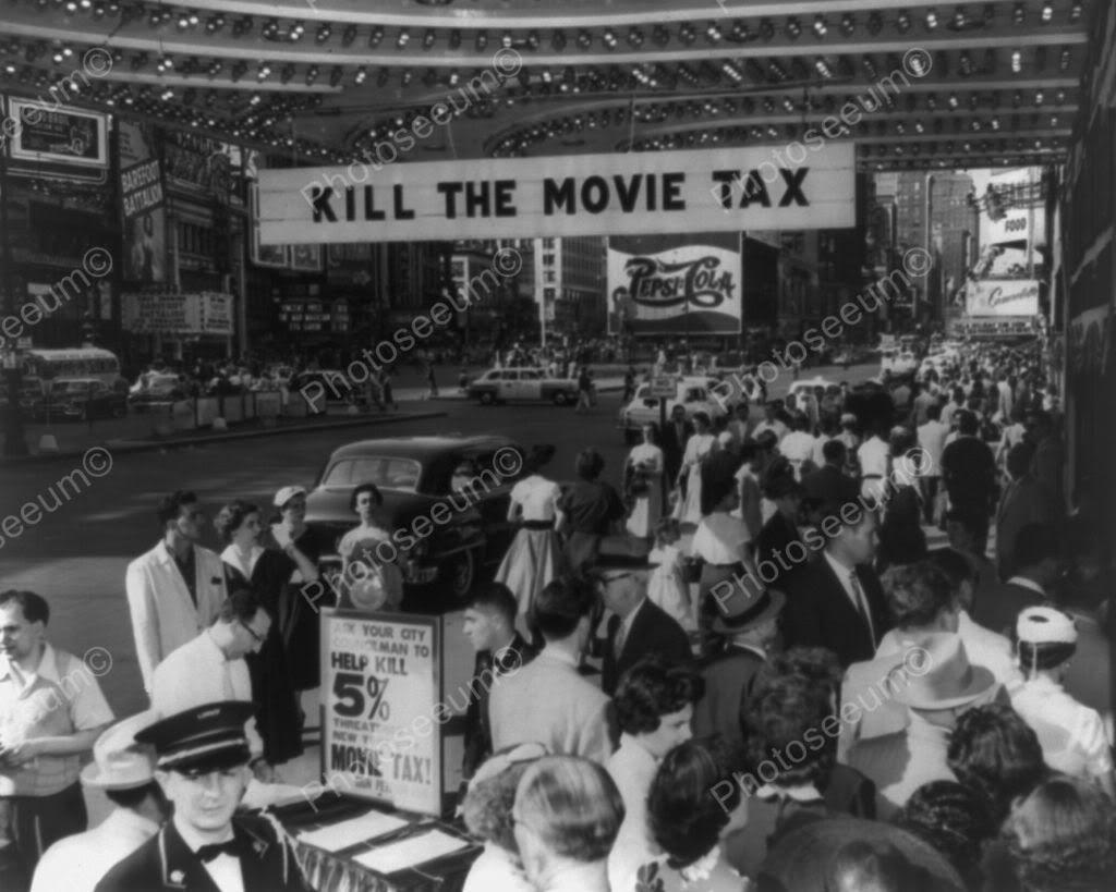 Kill The Movie Tax Demonstration 8x10 Reprint of Old Photo   eBay