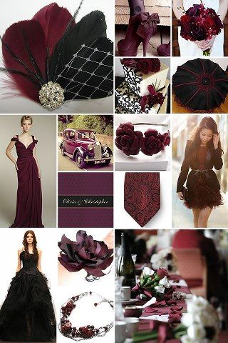 Black And Maroon Wedding Are Very Elegant And A Memorable