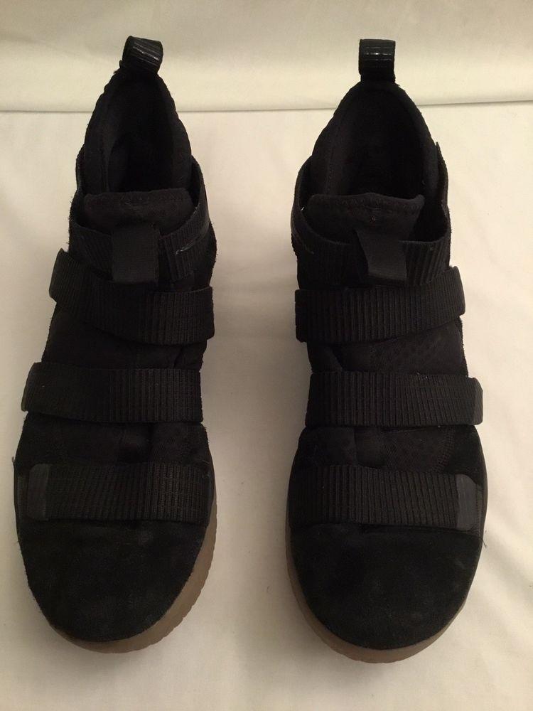 96df4d6093b Nike LeBron Soldier XI Black Black-Gum Light Brown 897644 007 Mens Shoes SZ  10.5  Nike  897644007