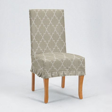Couture Chair Slipcover Pleated Slipcovers For Chairs