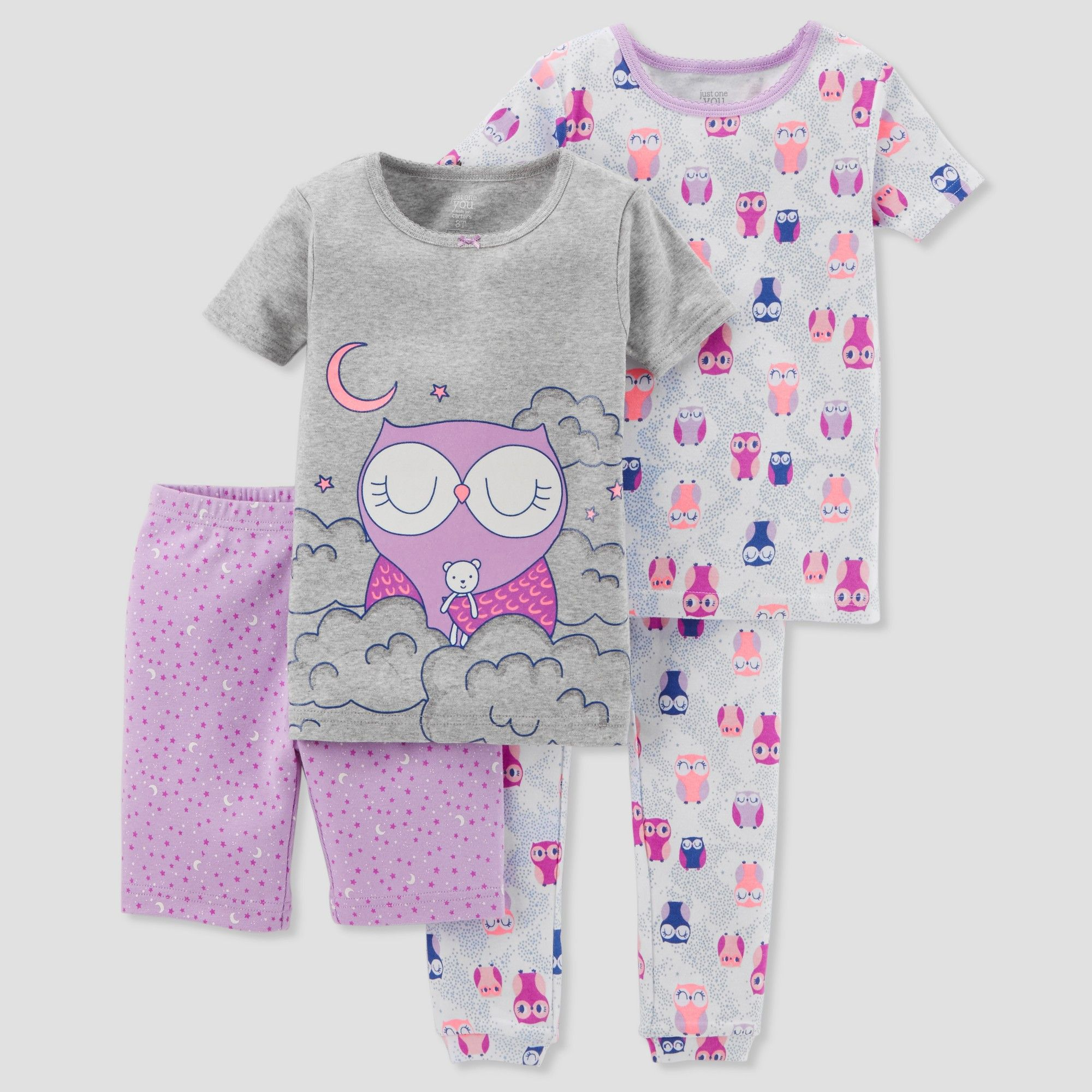 ff44e98f4 Toddler Girls  4pc Owls Pajama Set - Just One You made by carter s ...