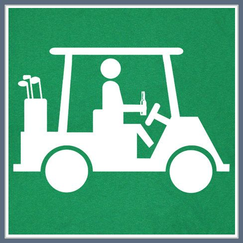 c6a1e01b9 Golf Cart T Shirt Golfing The Beer Funny Masters Caddyshack Green Ball Bag  Cool Tee