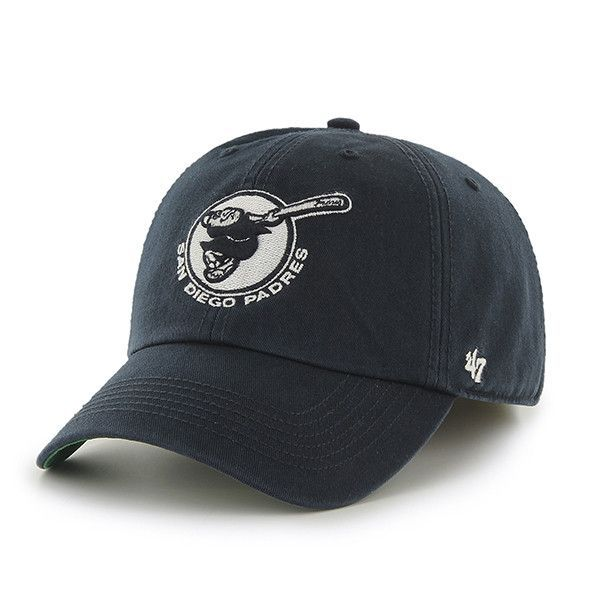 3a15cea08210d San Diego Padres 47 Brand Franchise Alternate Logo Navy Padres Script Hat  Cap.