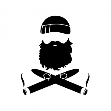 Beard crossed cigars vinyl sticker u