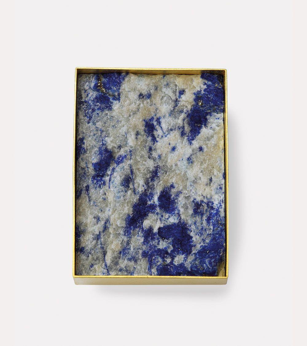 Michael Becker. Brooch: Untitled, 2016. 750 Gold, Lapis