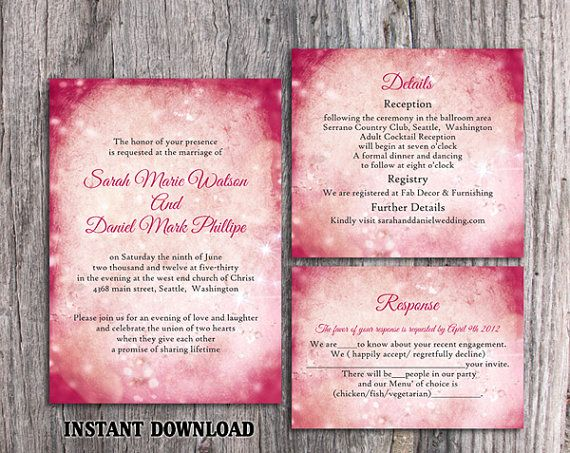 Rustic Wedding Invitation Template Download Printable Wedding