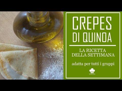 Ricetta Crepes Farina Di Quinoa.Ricetta Delle Crepes Con Farina Di Quinoa Senza Uova Adatte Per Tutti I Gruppi Youtube Ricette Crepes Quinoa