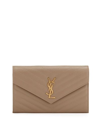 4d4c7a286abd V3RGY Saint Laurent Matelasse Monogram YSL Wallet on Chain | Ebates ...