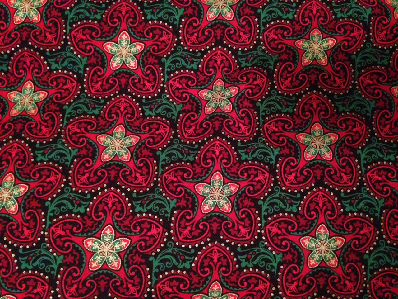 Christmas Fabric By The Yard Christmas Star Fabric By The Yard