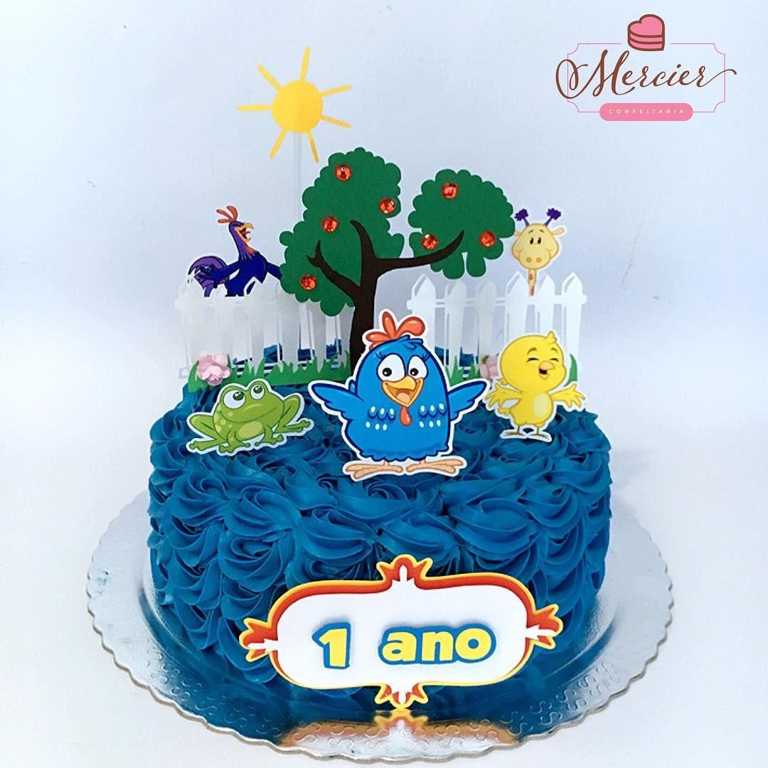 Torta Chantininho Personalizada Galinha Pintadinha Chantininho