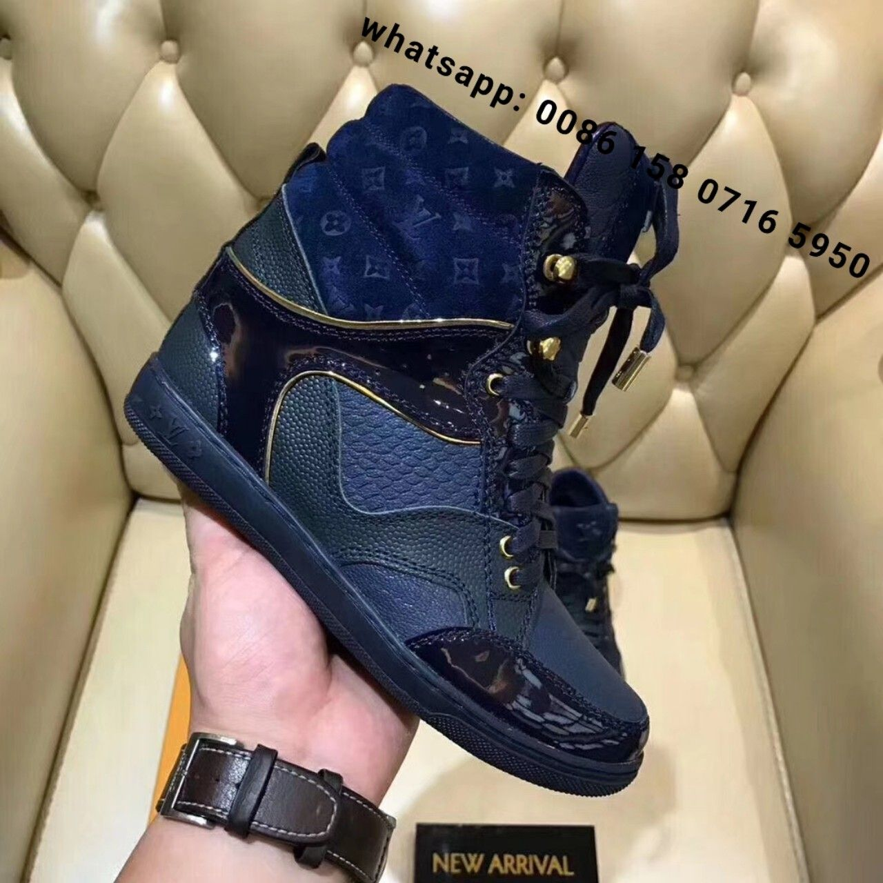 ad85f611cc25 louis vuitton wedge sneakers lv shoes original quality worldwide shipping