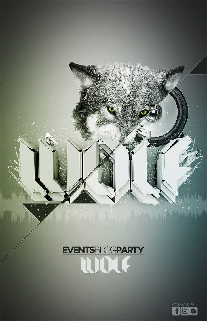 Poster design 3d - Wolf Poster 3d Graphic Design