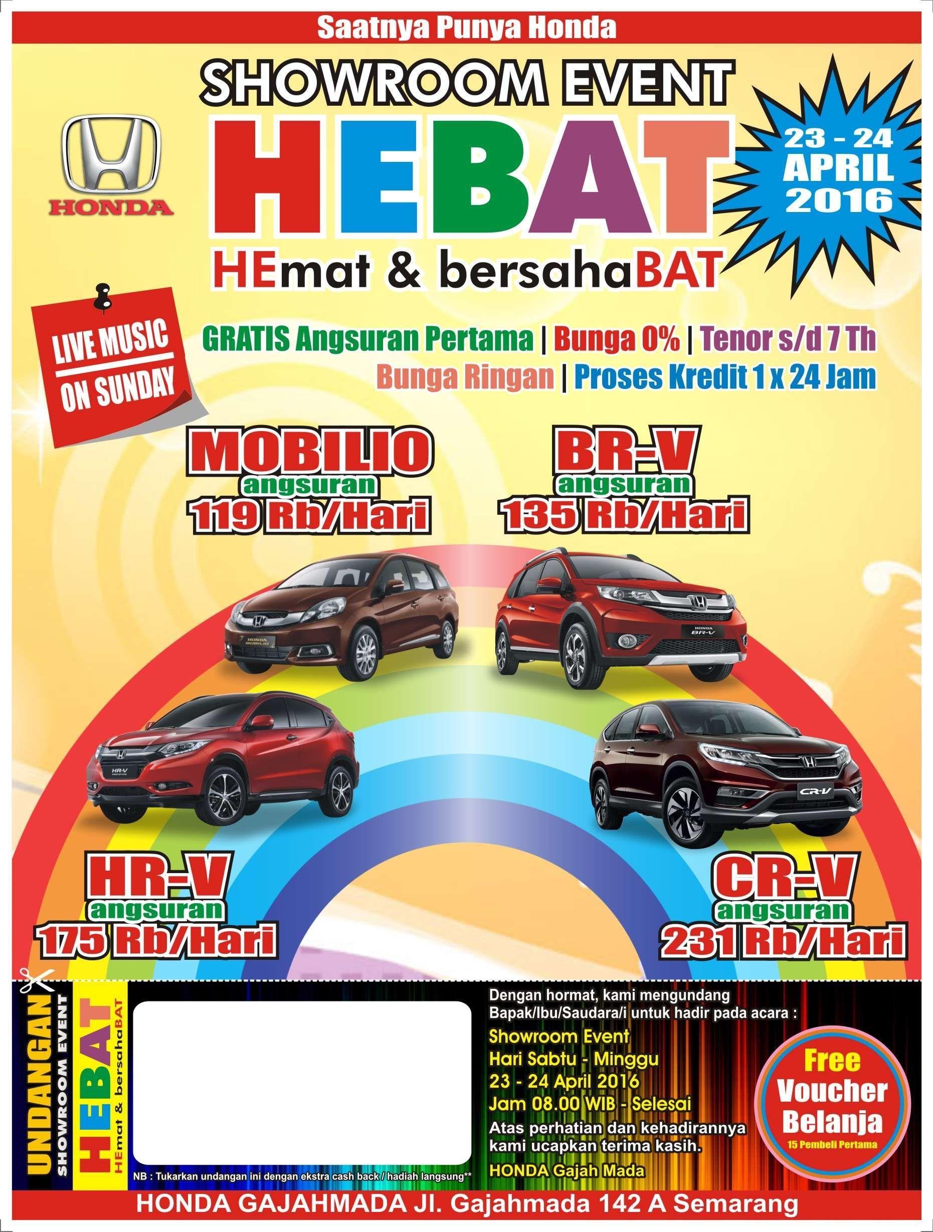 Promo WOW Honda Gajahmada Showroom Event Info Harga