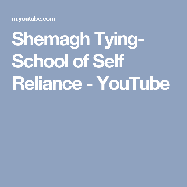 Shemagh Tying- School of Self Reliance - YouTube