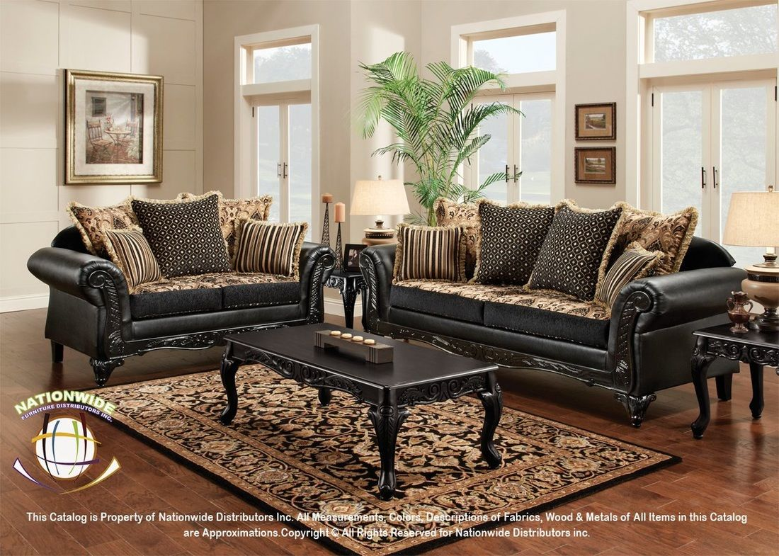 Black And Gold Couch Mebel