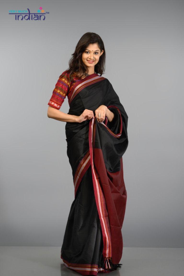 Black Linen cotton silk saree and blouse for women.saree,wedding saree,indian sare,traditional saree,designer saree,saree dress,saris