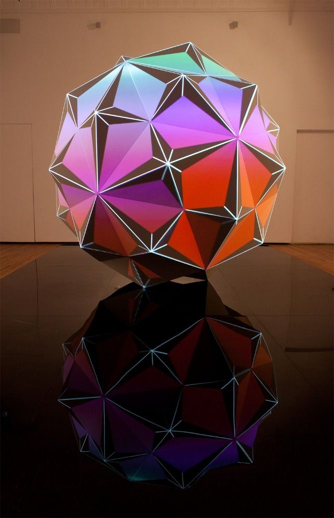 Promenides I by Dev Harlan  -- I think this is a stellated rhombic triacontahedron.