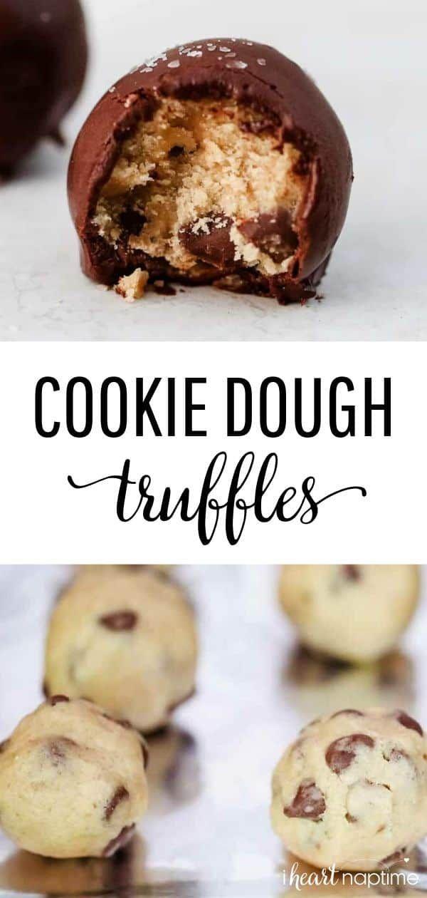No-Bake Chocolate Chip Cookie Dough Truffles - I Heart Naptime