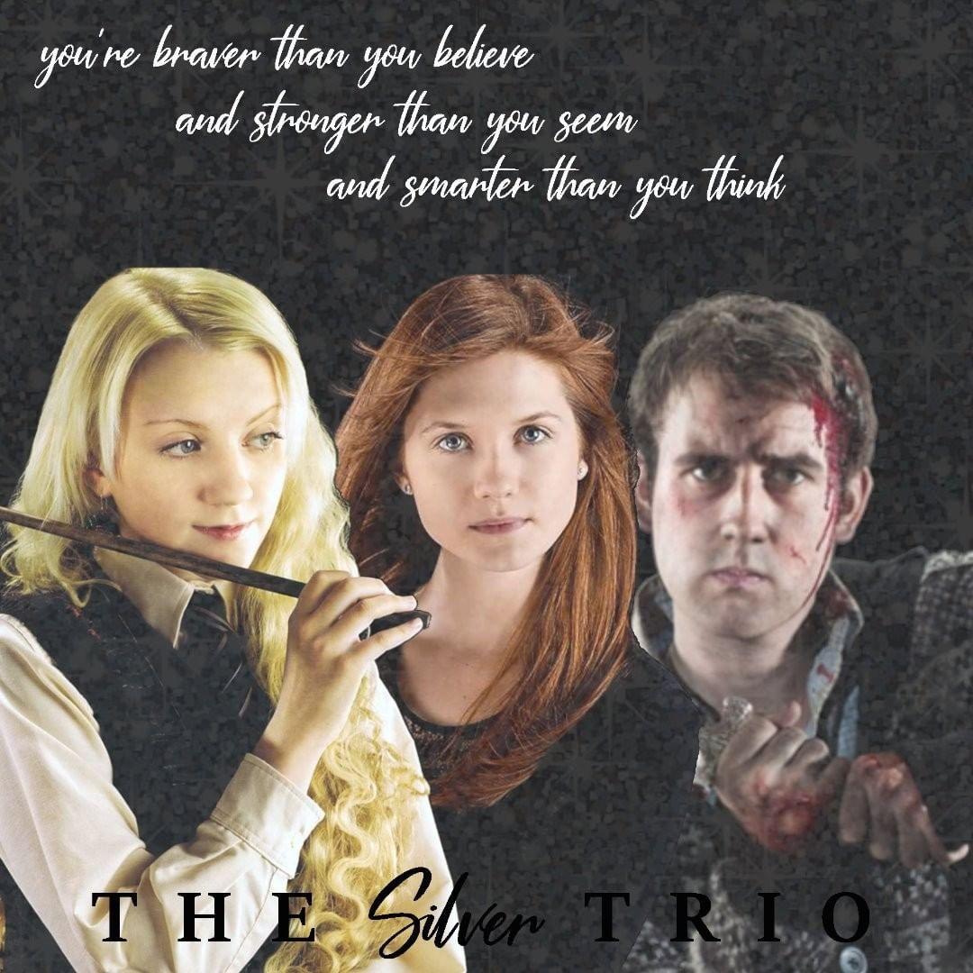 The Silver Trio Silvertrio Lunaginnyneville Nevillelongbottom Lunalovegood Ginnyweas Harry Potter Characters Harry Potter Wizard Harry Potter Groups