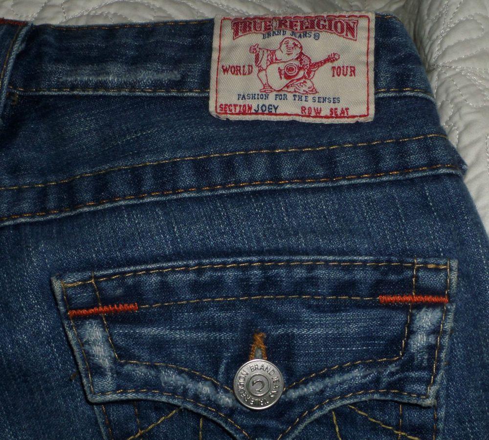 477b0e3b1 True Religion Womens Joey Jeans Twisted Seams Flare Flap Pocket 25 x 33  Made USA  TrueReligion  FlareTwistedseam