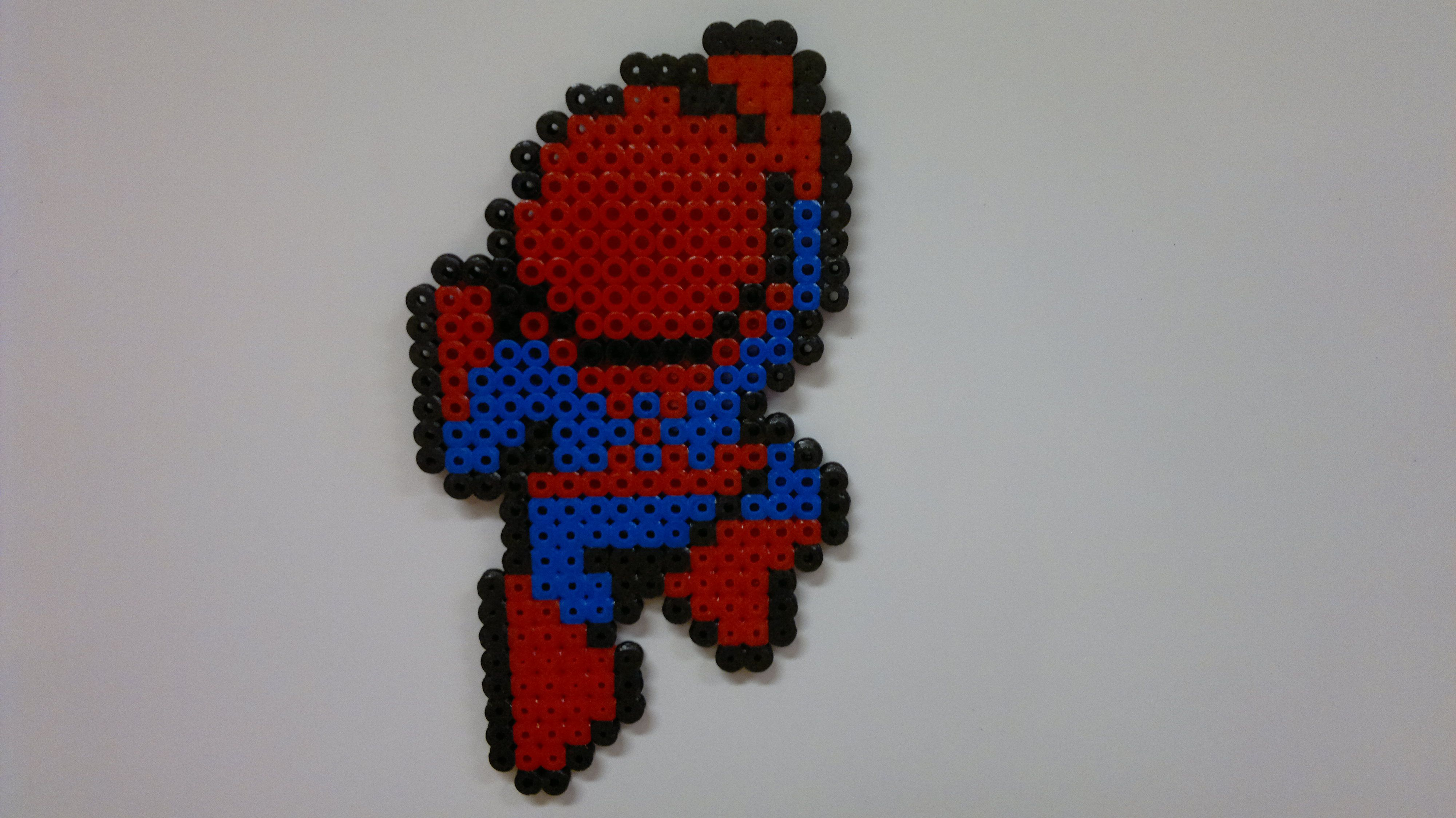 Hama Beads Spiderman: Perler Marvel Universe