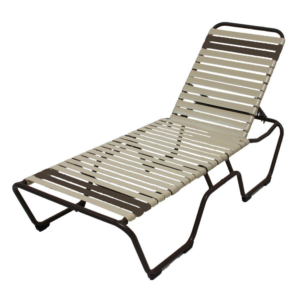 - Marco Island Cafe Brown Commercial Grade Aluminum Patio Chaise