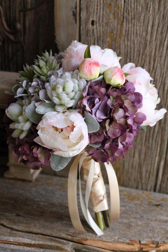 Blush Peonies Hydrangea & Succulents by FloralDesignsbyTrish ...