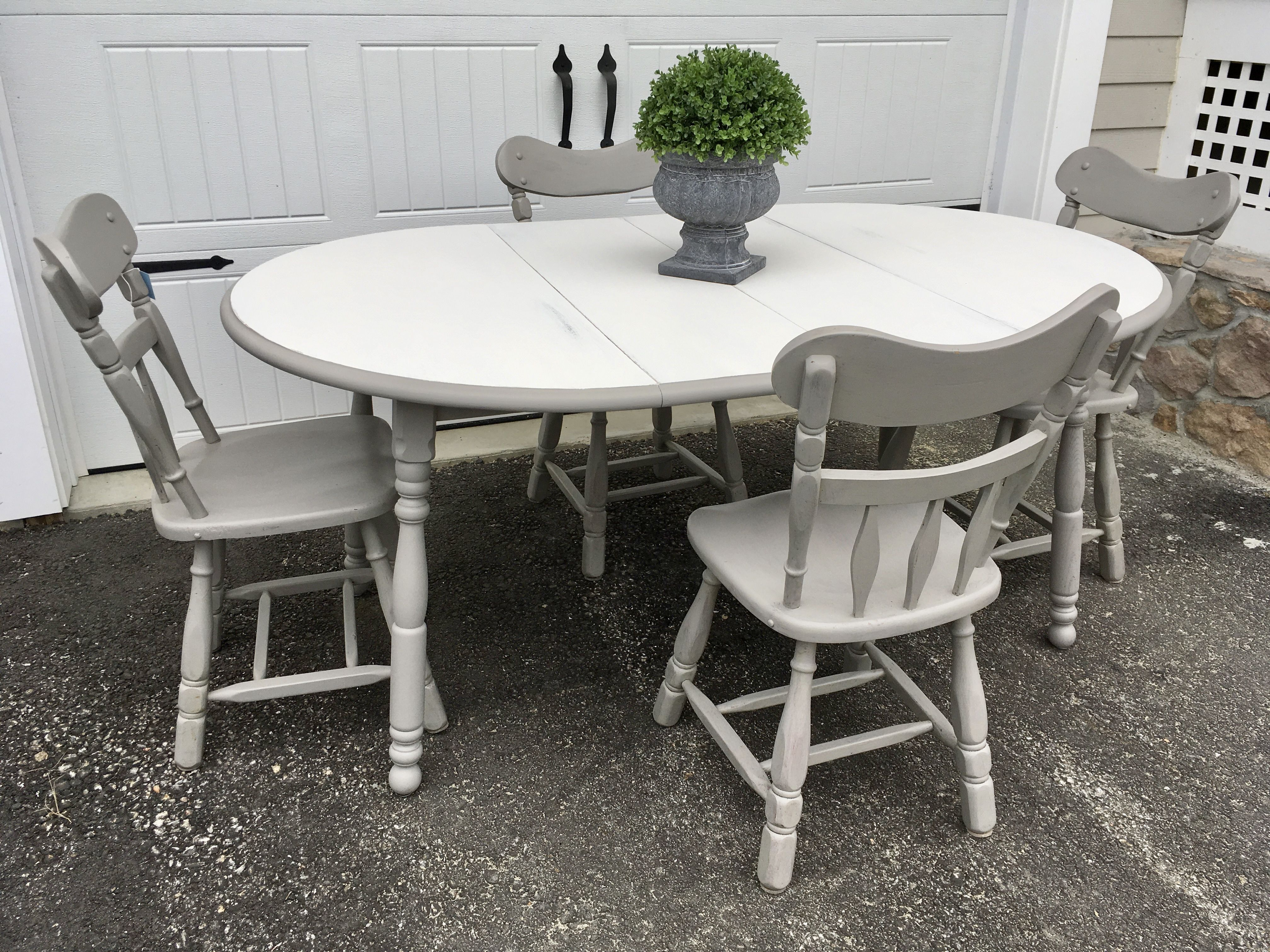Farmhouse Kitchen Table And Vintage Chairschairs Were Made In Adorable Kitchen Table Chairs Design Inspiration