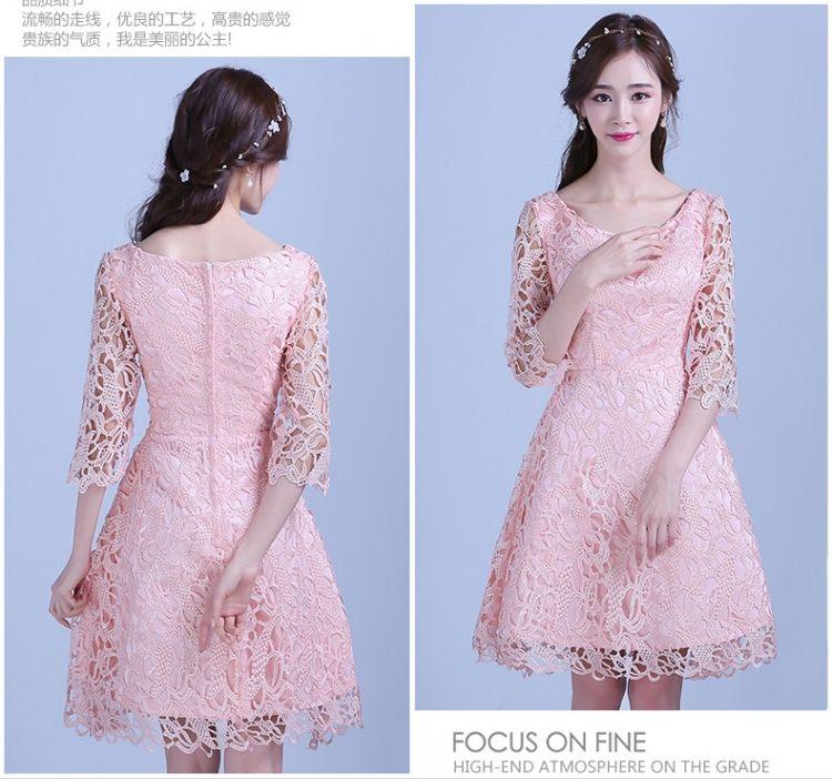 4dc424f5d6d Slim Korean style formal dress short bridesmaid dress