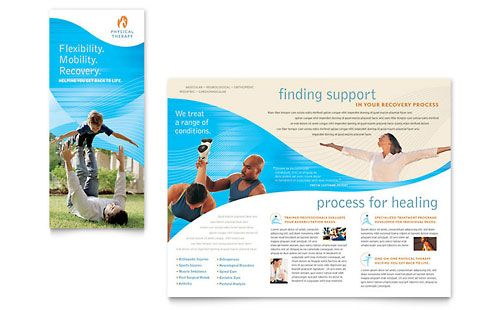 physical therapist brochure template design stocklayouts no 9