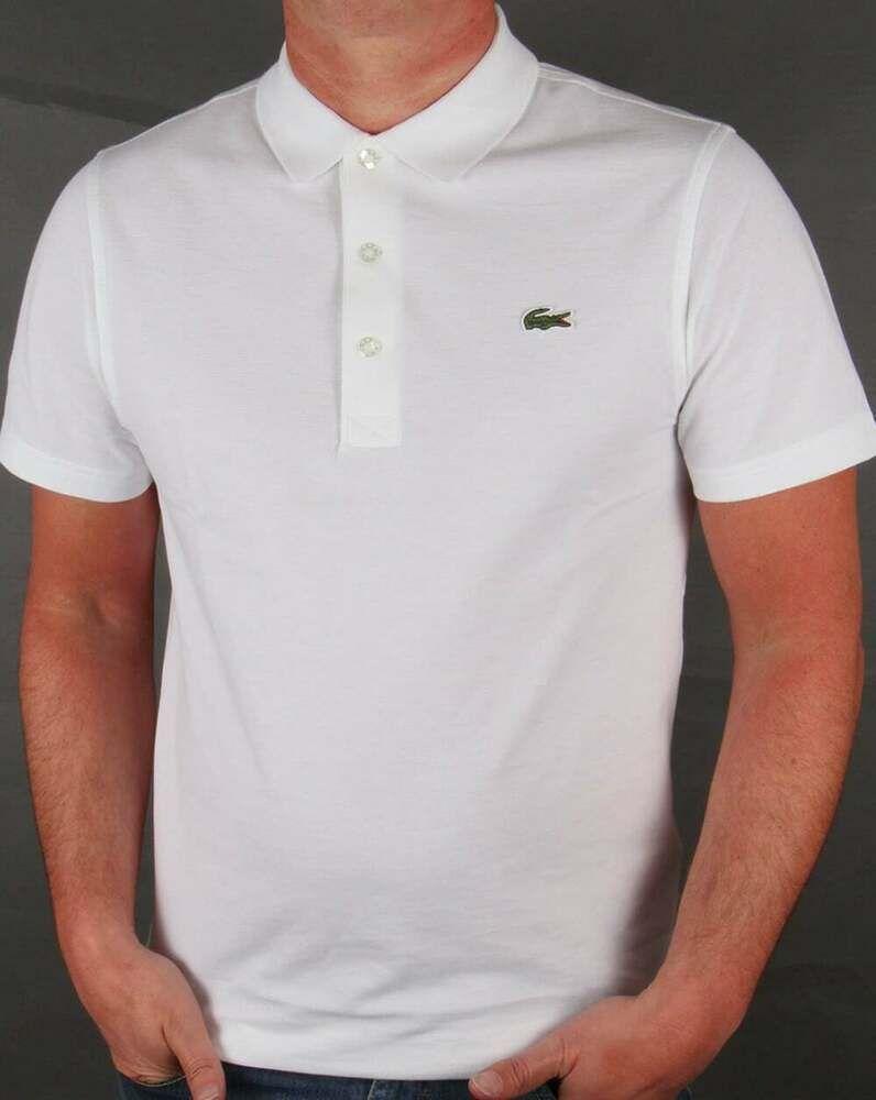 Lacoste Polo Shirt - White - BNWT | Lacoste polo shirts, Sports ...