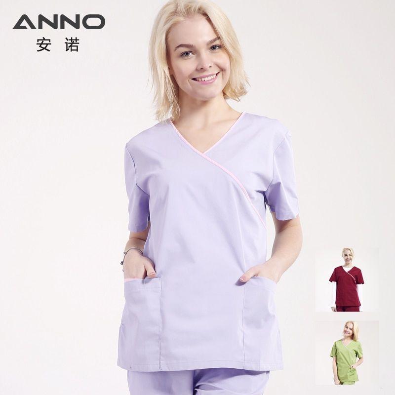 e414075abf8 ANNO Medical Scrubs for Women Adjustable waist Nursing Uniforms Hospital  Clinic Beauty Salon Work Wear Surgical Clothing. #Anno #unisex #nursing # medical ...
