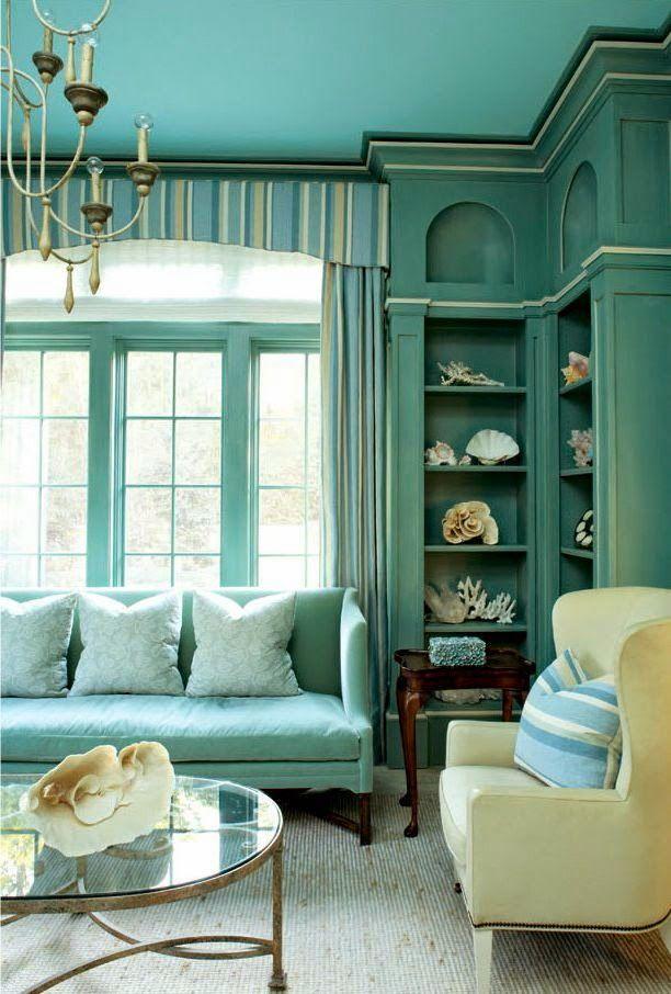9 fotos de decoración de salas en color aguamarina Aqua and Patios