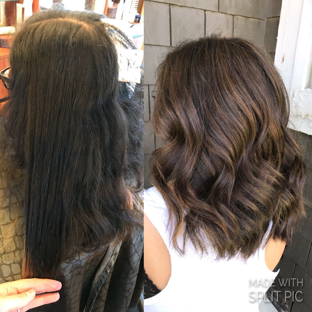 Subtle Highlights On Brunette Caramel Tones Soft Dimension Aveda