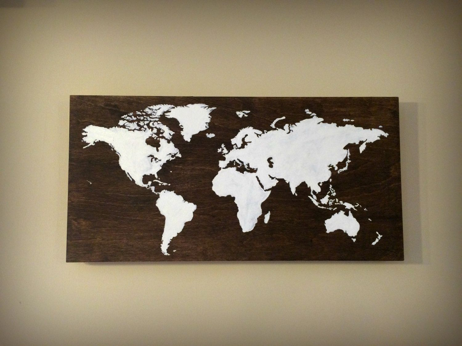Rustic wood world map wooden map of the world handpainted wood rustic wood world map wooden map of the world handpainted wood map rustic gumiabroncs Image collections